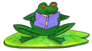 Frog-sit-read