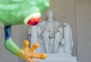 Lincoln with frog