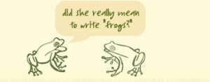 writing frogs