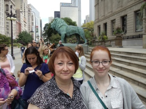 My daughter and me in Chicago