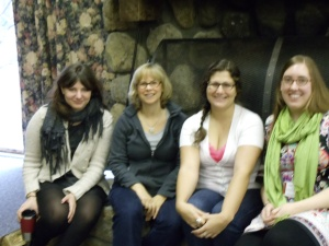 Fabulous editors/presenters-- Mallory Kass, Scholastic; Kathy Dawson, Kathy Dawson Books; Aubrey Poole, Sourcebooks; Katherine Jacobs, Roaring Book Press