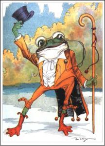 frog in top hat