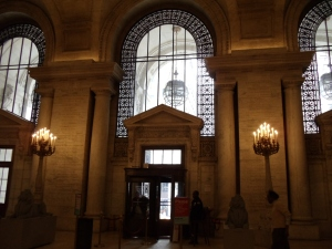 Photo by Vicky Lorencen New York Public Library